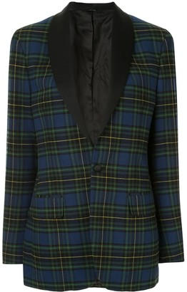 R 13 Plaid Fitted Blazer