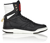 Buscemi Men's 150MM Leather High-Top Sneakers-BLACK