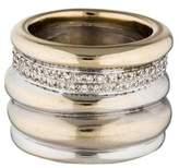 Pomellato 18K Diamond Tubolare Ring