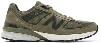 New Balance Green Made In US 990 v5 Sneakers