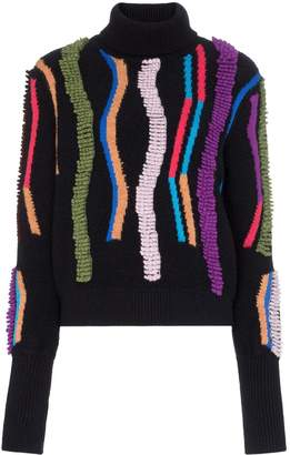Peter Pilotto loop embroidered turtleneck jumper