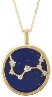Lapis Zodiac Lazuli Gemstone Star Constellation Pendant Necklace Gold Scorpio