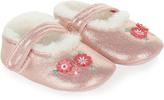 Monsoon Baby Flower Fluffy Fleece Ballerina