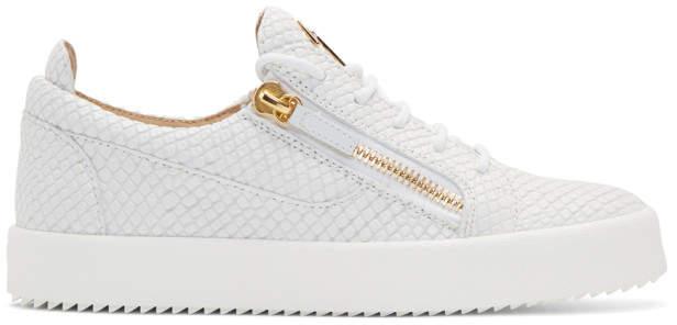 Giuseppe Zanotti White Snake May London Sneakers
