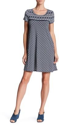 Max Studio Short Sleeve Swing Dress