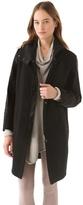 Helmut Lang Willowed Felt Boxy Coat