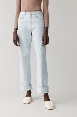 Cos Straight Organic Cotton Turn-Up Jeans