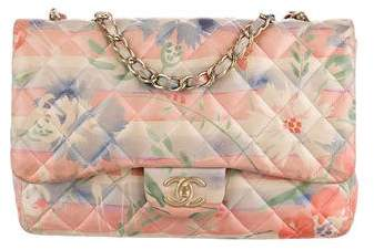 Chanel Watercolor Classic Jumbo Single Flap Bag