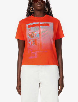 Fenty by Rihanna Graphic-print slim-fit cotton-jersey T-shirt