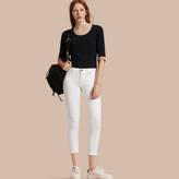 Burberry Skinny Fit Low-Rise Cropped Jeans