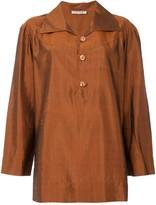 Saint Laurent Pre Owned textured shirt tunique