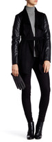 Laundry by Shelli Segal Contrast Sleeves Wrap Coat