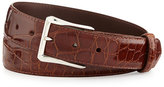 "W.KLEINBERG Glazed Alligator Belt with ""The Watch"" Buckle, Cognac (Made to Order)"