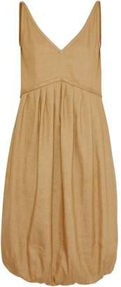Burberry Linen Blend Bubble Hem Dress