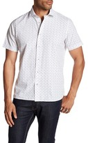 Toscano Confetti Print Regular Fit Short Sleeve Shirt