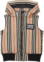 Burberry Leroy Stripe Down Hooded Vest