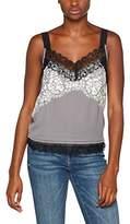 Sisley Women's Sleevless V-Neck Top Vest