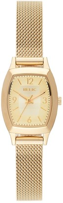 Relic by Fossil Women's Everly Gold Tone Mesh Watch