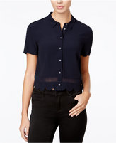 Armani Exchange Scalloped Tulip-Back Shirt