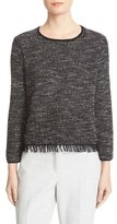 Theory Women's Vendla Tweed Fringe Sweater