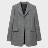 Paul Smith Women's Regular-Fit Puppytooth-Check Wool Long Blazer