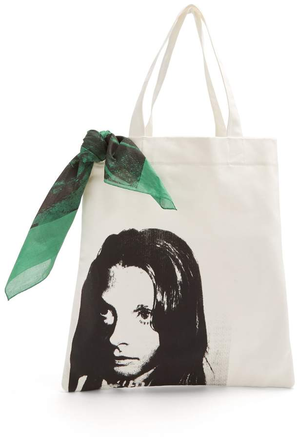 Calvin Klein Face-print canvas tote bag