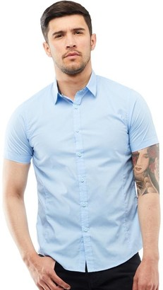 Brave Soul Mens Mombass B Shirt Pale Blue
