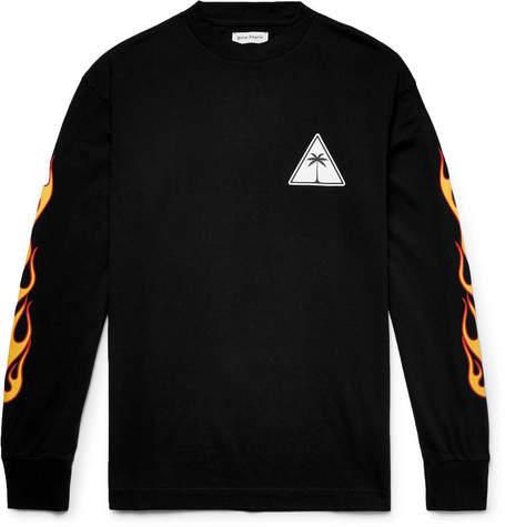 Palm Angels Logo-Print Cotton-Jersey T-Shirt