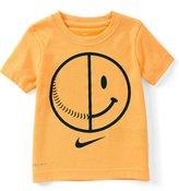 Nike Little Boys 2T-7 Smiley Baseball Dri-FIT Tee