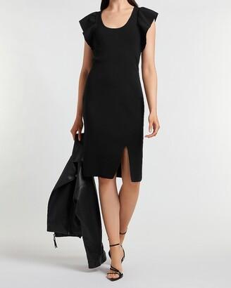 Express Ruffle Sleeve Sweater Dress