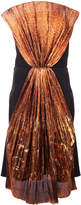 Christian Siriano contrast panel strapless dress