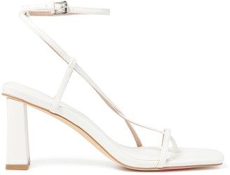 Forever New Indiana Strap Mid-Block Heels - White - 36