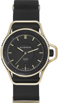 Givenchy GY100181s09 Seventeen limited edition yellow gold-plated and leather watch