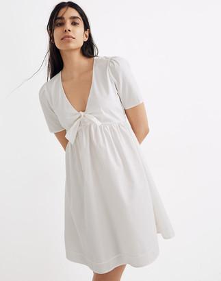 Madewell Tie-Front Mini Dress