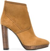 Burberry high heel ankle boots - women - Leather/Calf Suede/rubber - 40