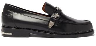 Toga Virilis Western-strap Leather Loafers - Black