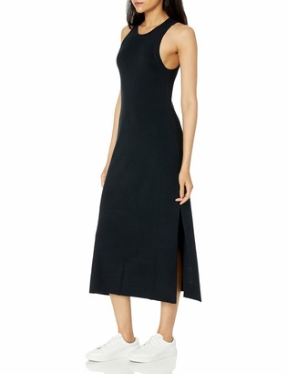 The Drop Women's Gabriela High Neck Cut-In A-Line Side Slit Maxi Sweater Dress