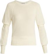 Elizabeth and James Emerald tie-sleeve sweater