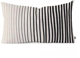 Deny Designs Alisa Galitsyna Black Vertical Lines Oblong Throw Pillow