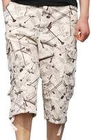 Hzcx Fashion Mens washed cotton long capris multi-pockets casual cargo shorts QT6023-1320-45-LG