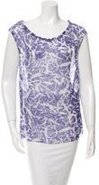 Jonathan Saunders Printed Silk Top w/ Tags
