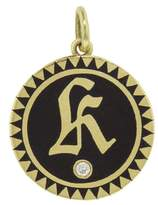 Foundrae Black Champlevé Initial Medallion