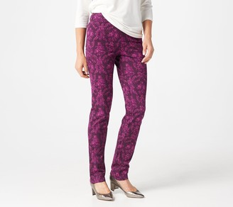 Isaac Mizrahi Live! Tall 24/7 Stretch Damask Printed Pants