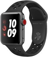 Apple Watch Nike+ Series 3 (GPS + Cellular), 38mm Space Grey Aluminium Case With Anthracite/Black Sport Band