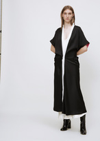 Haider Ackermann kuiper black / dali ivory / dali lipstick coat dress