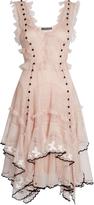 Alexander McQueen V-neck sleeveless ruffled tulle dress