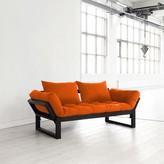Fresh Futon Edge Orange With Black Frame