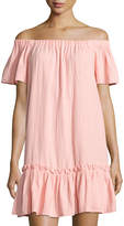 Rebecca Taylor Off-the-Shoulder Gauze Dress