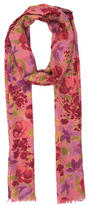 Loro Piana Cashmere Floral Printed Scarf