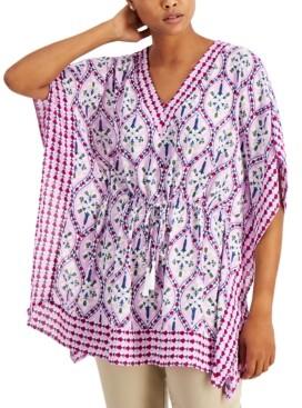 Charter Club Cotton Printed Kimono, Created for Macy's